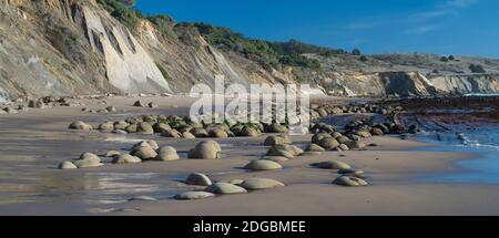View of the Bowling Ball Beach, Schooner Gulch State Beach, Mendocino County, California, USA