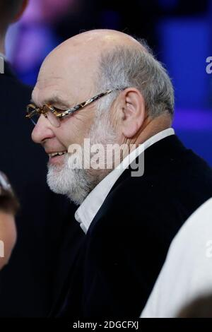 Robert Hue seen when Former French Economy Minister and President of the political movement 'En Marche' (On the Move!) and candidate for the 2017 presidential election Emmanuel Macron addressing his supporters in the Paris Event Center, Paris, France on May 1st, 2017. Photo by Henri Szwarc/ABACAPRESS.COM Stock Photo