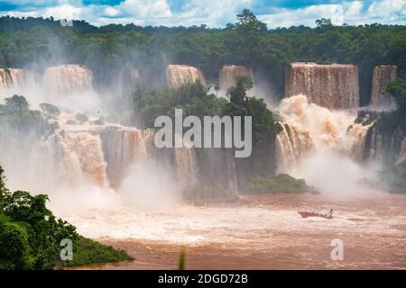 View of Iguazu Falls at Brazil side