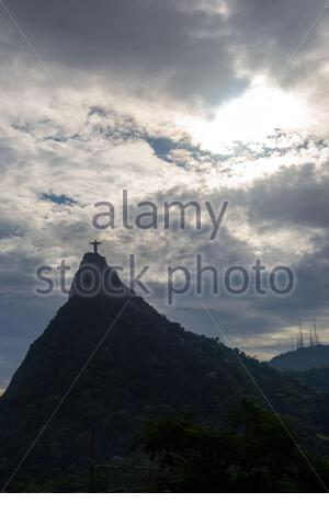 View from far from the corcovado in Rio de Janeiro. - Stock Photo