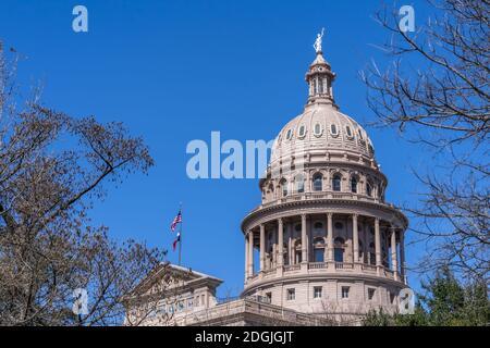 Aerial Views Of The City Of Austin Texas Along The Colorado River