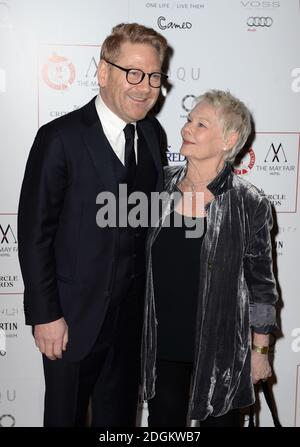 Kenneth Branagh and Dame Judi Dench arriving at the Critics Circle Film Awards 2016, the May Fair Hotel, London.  - Stock Photo