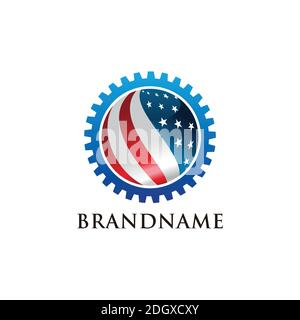 AMERICAN Industry logo vector template - Stock Photo