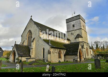 GV of St. Michael's Church, Church Street, Betchworth, featured in Four Weddings and a Funeral, Thursday 12th November 2020.