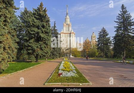 The main building of Moscow University. - Stock Photo