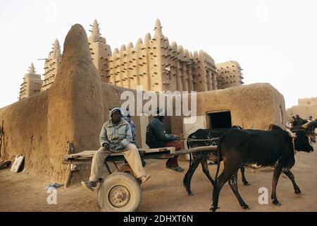 Great Mosque, Djenne, Mopti region,Mali, West Africa.