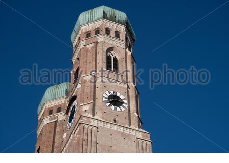 Frauenkirche cathedral in Munich, Germany - Stock Photo