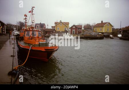 MARITIME PILOT boat in harbor at Landsort in Sšdermanland south of Stockholm