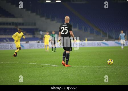 Rome, Italy. 12th Dec, 2020. At Stadio Olimpico of Rome, Verona beat Lazio 2-1 for the 11th game of Italian Serie A 2020-2021 in Rome, Italy on December 12, 2020. In this picture: Jose Manuel Reina (Photo by Paolo Pizzi/Pacific Press/Sipa USA) Credit: Sipa USA/Alamy Live News - Stock Photo