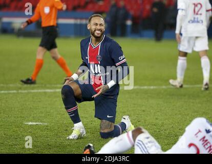 Neymar Jr of PSG during the French championship Ligue 1 football match between Paris Saint-Germain (PSG) and Olympique Lyonnais  / LM