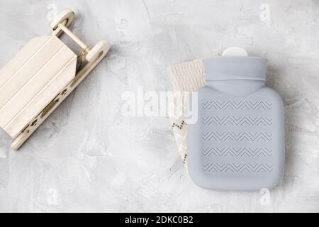 Silicone hot water bottle for outdoor warming