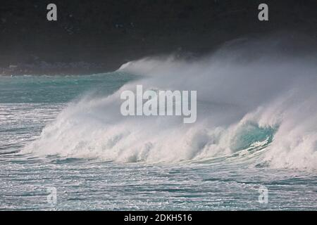 Stormy Waves Breaking - Stock Photo