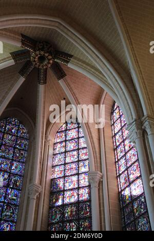 notre-dame cathedral in chartres in france
