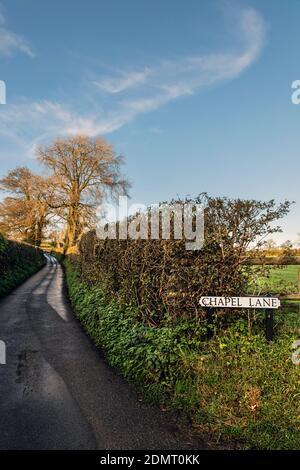 Chapel Lane, Tissington, Peak District National Park, Derbyshire Stock Photo