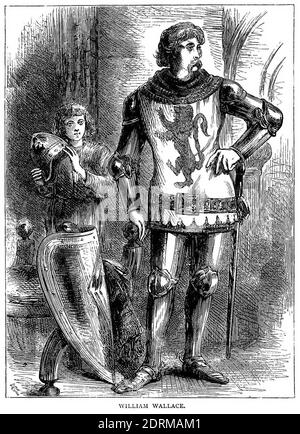 William Wallace (1270-1305) was a Scottish knight who became one of the main leaders during the First War of Scottish Independence