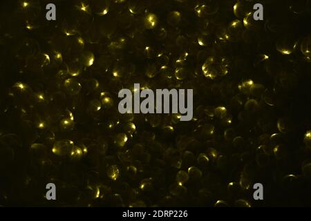 Yellow bokeh blurred abstract background.. Space for your text.