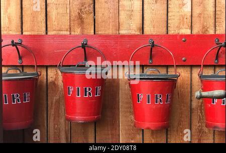 Close-up Of Fire Buckets