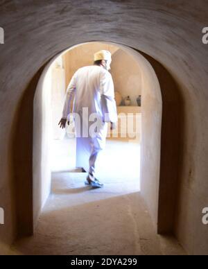 The beautiful interior of the Jibreen castle in Oman.