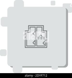 blueprint vector icon modern simple vector illustration