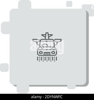 flying car vector icon modern simple vector illustration