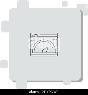 speed test vector icon modern simple vector illustration - Stock Photo