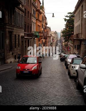 AJAXNETPHOTO. 2015. ROME, ITALY. - VIEW LOOKING ALONG VIA DEL QUATTRO FONTANE. PHOTO:JONATHAN EASTLAND/AJAX REF:GXR151012_5765 Stock Photo