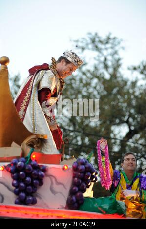 Will Ferrell as king of the Bacchus parade during Mardi Gras celebrations in New Orleans, LA, USA on February 19, 2012. Photo by Craig Mulcahy/ABACAPRESS.COM - Stock Photo