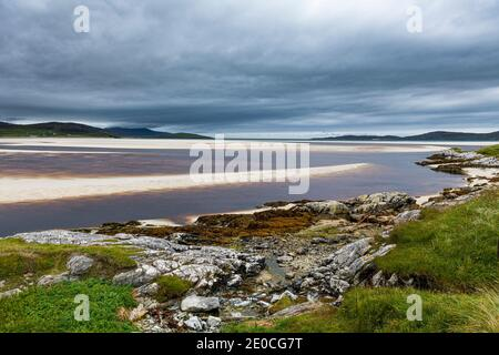 Luskentyre Beach, Isle of Harris, Outer Hebrides, Scotland, United Kingdom, Europe - Stock Photo