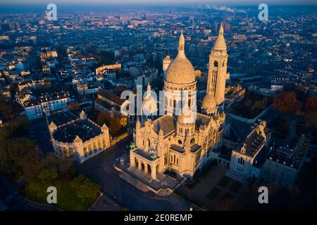 France, Paris (75), the basilica of the Sacre Coeur on the hill of Montmartre