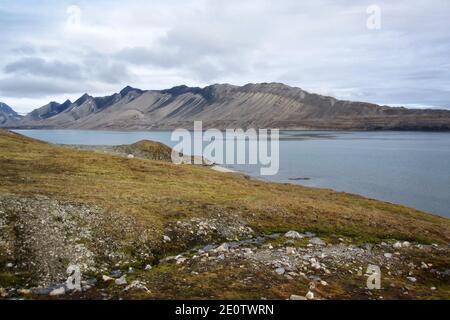 Sailship At Isfjorden, Svalbard Coast - Stock Photo