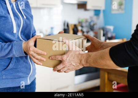 Parcel delivery at home