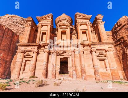 Petra, Jordan. El Deir (The Monastery) in Petra, the capital of the ancient Nabatean Kingdom.