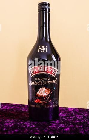 Bottle of Baileys Salted Caramel Irish Cream Liqueur