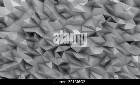 Ultimate Gray background in the form of broken shapes of triangles abstraction 3d rendering