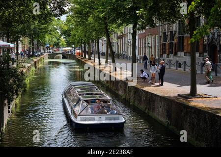 Cruise through the canals of Delft.