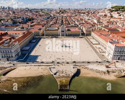 Commerce Square in center of Lisbon called Praca do Comercio, Portugal