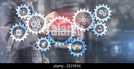 Digital transformation disruption digitalisation innovation technology concept