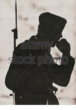 Start of the construction of the Berlin Wall. East-German border guard. East Berlin. August 1961 Stock Photo