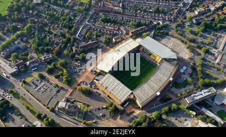 An aerial view of  Molineux the home stadium of Wolverhampton Wanderers Copyright 2020 © Sam Bagnall Stock Photo