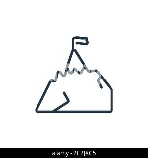 Climbing outline vector icon. Thin line black climbing icon, flat vector simple element illustration from editable free time concept isolated stroke o