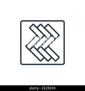 Parquet outline vector icon. Thin line black parquet icon, flat vector simple element illustration from editable construction concept isolated on whit