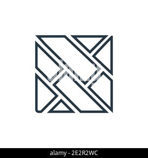 Parquet outline vector icon. Thin line black parquet icon, flat vector simple element illustration from editable construction tools concept isolated s