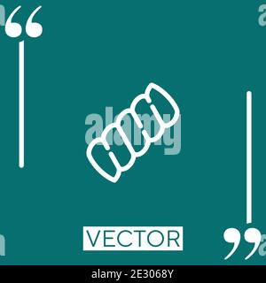 inclined marshmallow Linear icon. Editable stroke line - Stock Photo