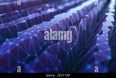 Colorful abstract image with organic shape. Background technology concept.