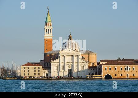 The San Giorgio Monastery in Venice, Italy Stock Photo