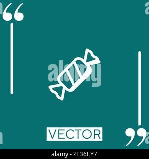 inclined candy Linear icon. Editable stroke line - Stock Photo