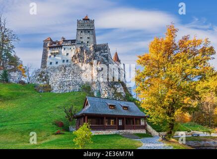 Brasov, Transylvania. Romania. The medieval Castle of Bran, known for the myth of Dracula.