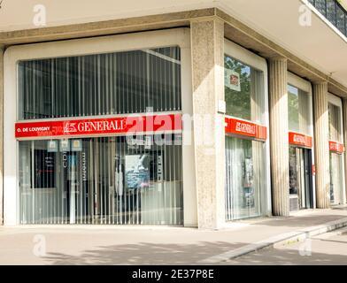 Le Havre, France : Generali Insurance office. Assicurazioni Generali is the biggest Italian Insurance Company, spread in Central Europe - Stock Photo