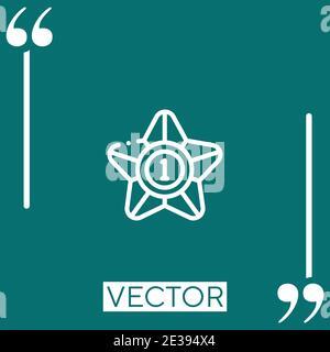 winner vector icon Linear icon. Editable stroked line