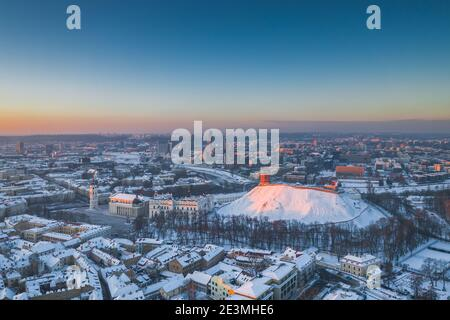 Aerial landscape of Vilnius city, Capital of Lithuania
